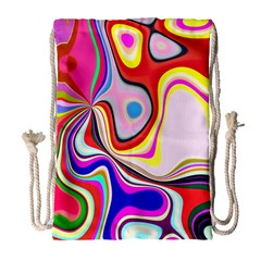 Colourful Abstract Background Design Drawstring Bag (large)