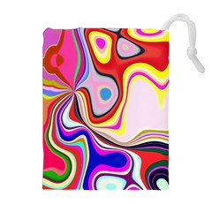 Colourful Abstract Background Design Drawstring Pouches (extra Large)