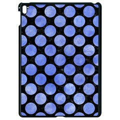 Circles2 Black Marble & Blue Watercolor Apple Ipad Pro 9 7   Black Seamless Case
