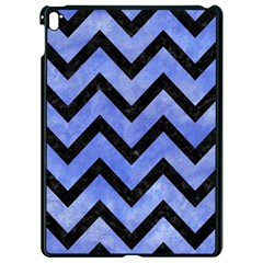 Chevron9 Black Marble & Blue Watercolor (r) Apple Ipad Pro 9 7   Black Seamless Case