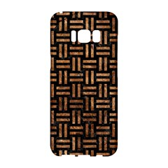 Woven1 Black Marble & Brown Stone Samsung Galaxy S8 Hardshell Case