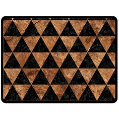 Triangle3 Black Marble & Brown Stone Double Sided Fleece Blanket (large)