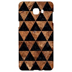 Triangle3 Black Marble & Brown Stone Samsung C9 Pro Hardshell Case