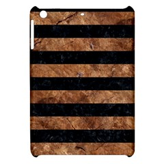 Stripes2 Black Marble & Brown Stone Apple Ipad Mini Hardshell Case