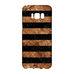 Stripes2 Black Marble & Brown Stone Samsung Galaxy S8 Hardshell Case