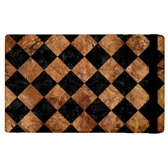 Square2 Black Marble & Brown Stone Apple Ipad 3/4 Flip Case