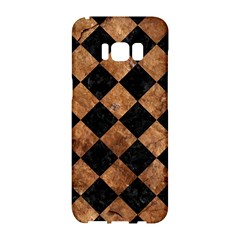 Square2 Black Marble & Brown Stone Samsung Galaxy S8 Hardshell Case
