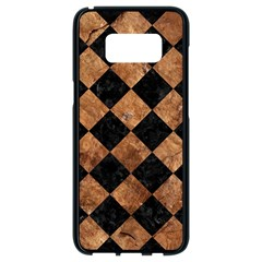 Square2 Black Marble & Brown Stone Samsung Galaxy S8 Black Seamless Case