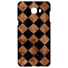 Square2 Black Marble & Brown Stone Samsung C9 Pro Hardshell Case