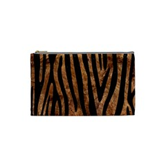 Skin4 Black Marble & Brown Stone Cosmetic Bag (small)
