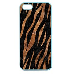 Skin3 Black Marble & Brown Stone Apple Seamless Iphone 5 Case (color)