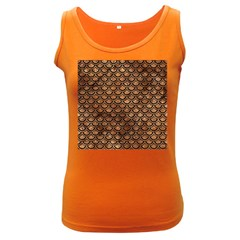 Scales2 Black Marble & Brown Stone (r) Women s Dark Tank Top