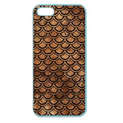 Scales2 Black Marble & Brown Stone (r) Apple Seamless Iphone 5 Case (color)