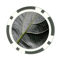 Leaf Detail Macro Of A Leaf Poker Chip Card Guard (10 Pack)