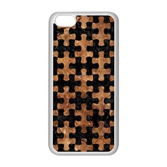 Puzzle1 Black Marble & Brown Stone Apple Iphone 5c Seamless Case (white)