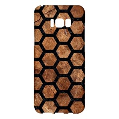Hexagon2 Black Marble & Brown Stone (r) Samsung Galaxy S8 Plus Hardshell Case