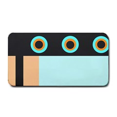 Orange, Aqua, Black Spots And Stripes Medium Bar Mats