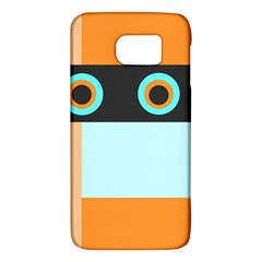 Orange, Aqua, Black Spots And Stripes Galaxy S6