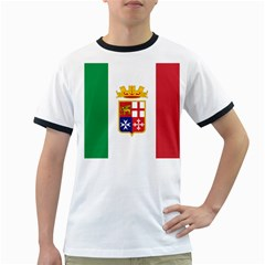 Naval Ensign Of Italy Ringer T Shirts