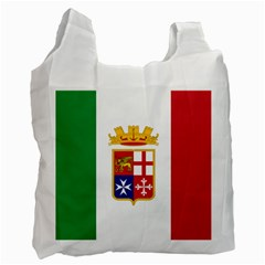 Naval Ensign Of Italy Recycle Bag (one Side)