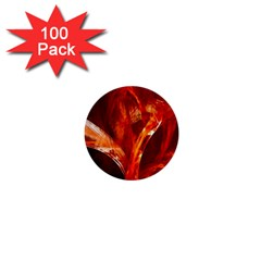 Red Abstract Pattern Texture 1  Mini Buttons (100 Pack)