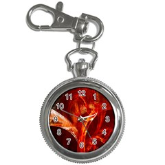 Red Abstract Pattern Texture Key Chain Watches