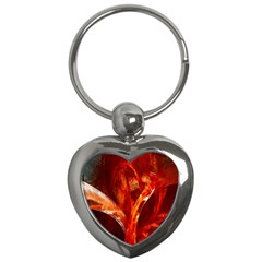 Red Abstract Pattern Texture Key Chains (heart)