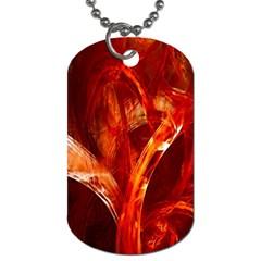 Red Abstract Pattern Texture Dog Tag (one Side)
