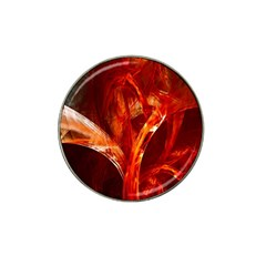 Red Abstract Pattern Texture Hat Clip Ball Marker