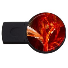 Red Abstract Pattern Texture Usb Flash Drive Round (4 Gb)