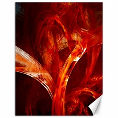 Red Abstract Pattern Texture Canvas 12  X 16