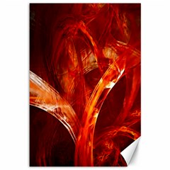 Red Abstract Pattern Texture Canvas 12  X 18
