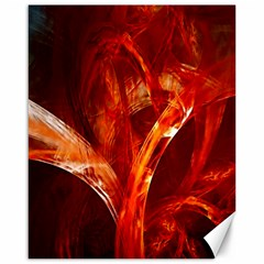Red Abstract Pattern Texture Canvas 16  X 20