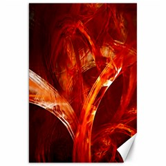 Red Abstract Pattern Texture Canvas 20  X 30