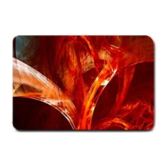 Red Abstract Pattern Texture Small Doormat