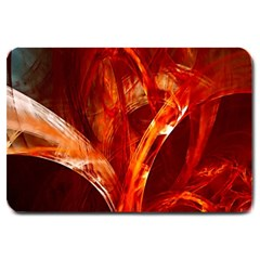 Red Abstract Pattern Texture Large Doormat