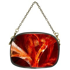 Red Abstract Pattern Texture Chain Purses (one Side)