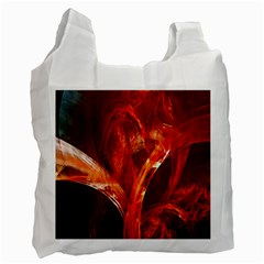 Red Abstract Pattern Texture Recycle Bag (one Side)