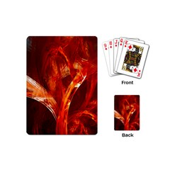 Red Abstract Pattern Texture Playing Cards (mini)