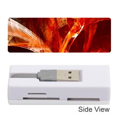 Red Abstract Pattern Texture Memory Card Reader (stick)