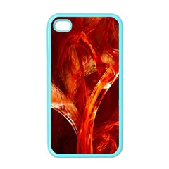 Red Abstract Pattern Texture Apple Iphone 4 Case (color)