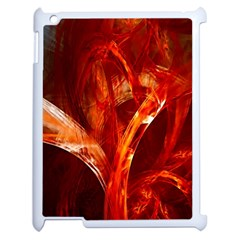 Red Abstract Pattern Texture Apple Ipad 2 Case (white)