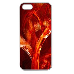 Red Abstract Pattern Texture Apple Seamless Iphone 5 Case (clear)