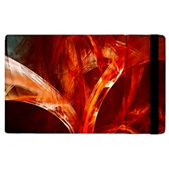 Red Abstract Pattern Texture Apple Ipad 3/4 Flip Case