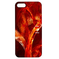 Red Abstract Pattern Texture Apple Iphone 5 Hardshell Case With Stand