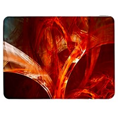 Red Abstract Pattern Texture Samsung Galaxy Tab 7  P1000 Flip Case