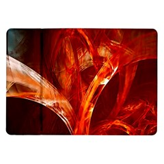 Red Abstract Pattern Texture Samsung Galaxy Tab 10 1  P7500 Flip Case