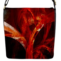 Red Abstract Pattern Texture Flap Messenger Bag (s)