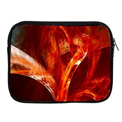 Red Abstract Pattern Texture Apple Ipad 2/3/4 Zipper Cases