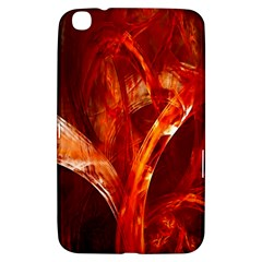 Red Abstract Pattern Texture Samsung Galaxy Tab 3 (8 ) T3100 Hardshell Case